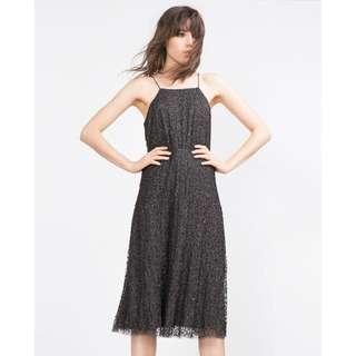 Zara grey sequin dress