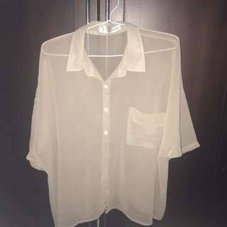 Used 3x, Cotton Ink Beige Shirt