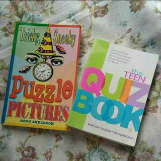 Buy 1 Take 1: Puzzle book with pictures and Teen Quiz Book