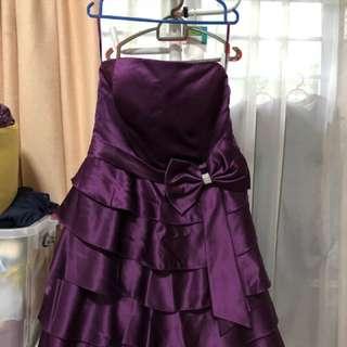 Prom Dress tube dress purple