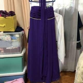 Purple Long Dress gown