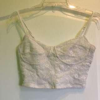 Garage- lace crop top