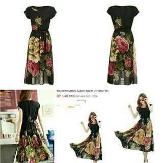 Cyber Dress Lengen Pendek