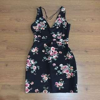 STRADIVARIUS Flower Mini Dress