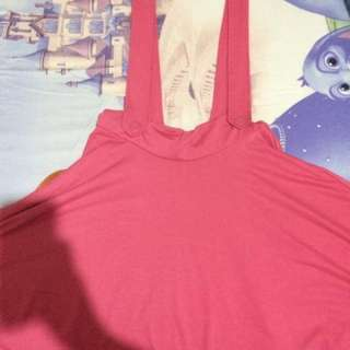 [NEW] Pink Suspender Skirt