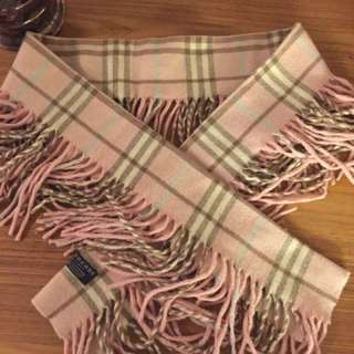 Pink Cashmere Burberry scarf