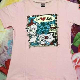 "[PRELOVED] ""WE LOVE BALI"" Pink T-shirt"