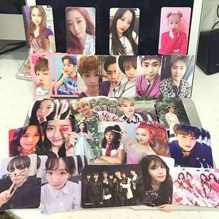 [CLEARANCE] NCT/WANNA ONE/EXO/WJSN/TAEYEON/SNSD/RED VELVET/MONSTA X PHOTOCARDS
