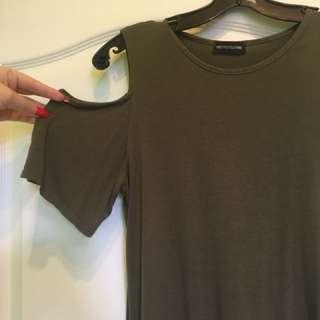 Cold shoulder tshirt dress
