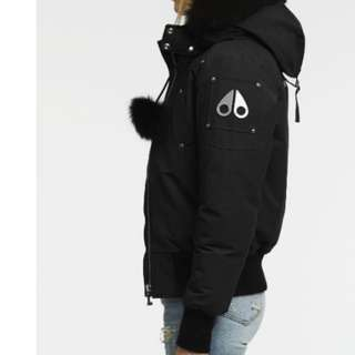 Moose knuckles black bomber winter jacket
