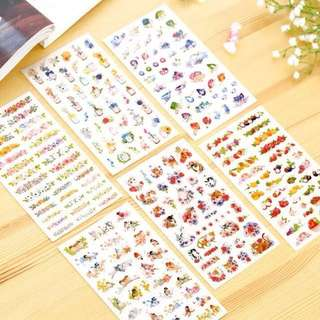 Birds and flowers stickers💐 (set of 6 sheets)