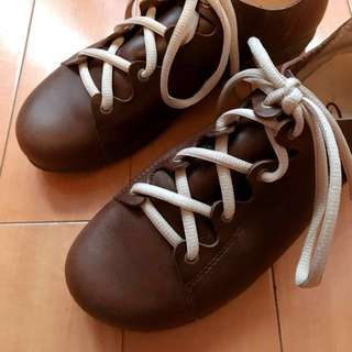 (降)crocodile 咖啡色皮鞋