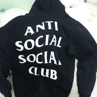 Anti social social club hoodie black