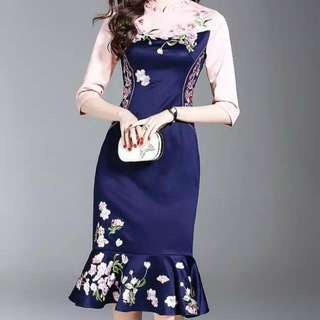 New Year Cheongsam With Embroidery
