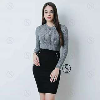 Knitted Top plus Skirt Terno