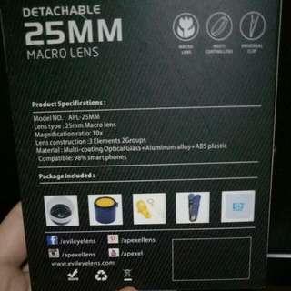 Detachable 25 MM Macro Lens
