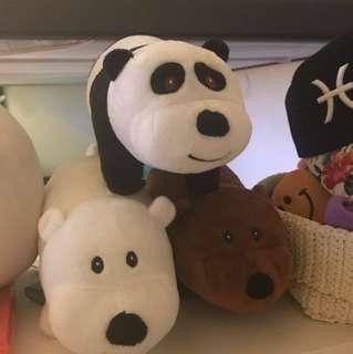 We Bare Bears plush toys