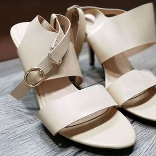 SOMETHING BORROWED Cream Sandals / Shoes