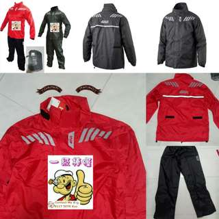3112*** Givi Raincoat RRS04 Red & Black 🤣🤣Thanks To All My Buyer Support 👌👌