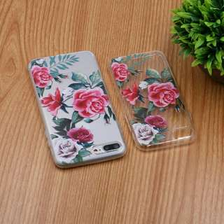 Floral Clear Soft tpu case for iphone7