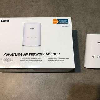 D Link a power line AV Network Adaptor