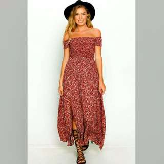 Lost Muse Maxi dress in red