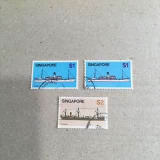26.4.80. Ships $1, $2 Used Stamps