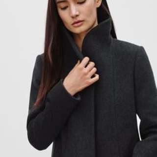 WILFRED COCOON COAT XS // CHARCOAL GREY