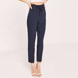 Missguided lace up Trousers