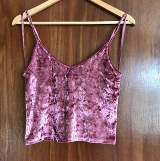 Velvet Crushed Pink crop