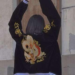 🚚 日式圖騰刺繡外套