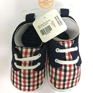Lovely Lace Baby Shoe 12-18months - Checker (Unisex)