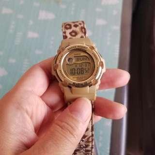 豹紋 G shock baby g 錶