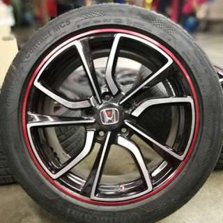 Honda type x type r 17 inch sports rim civic fc tyre 95%