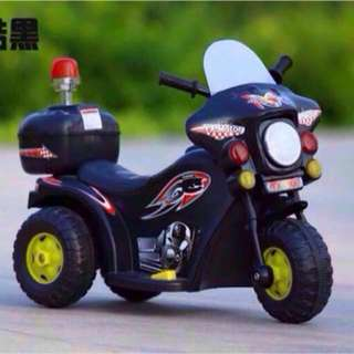 Kid's Black Motor Bike Motorcycle with Music Toy Rechargeable