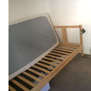 IKEA Bed Frame and Single Bed Mattress (Thick)