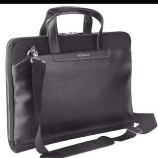 Authentic SAMSONITE Slim Briefcase/ messenger bag 15.6""