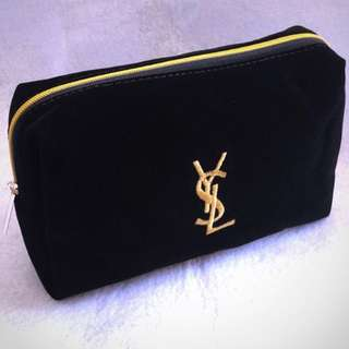 authentic YSL POUCH suede
