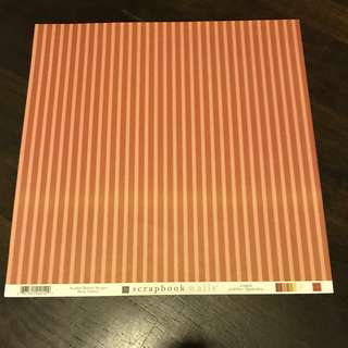 (Scrapbook Paper) Chatter Box scrapbook paper - Scarlet butter stripes