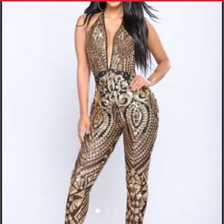 Fashion nova sequin jumpsuit