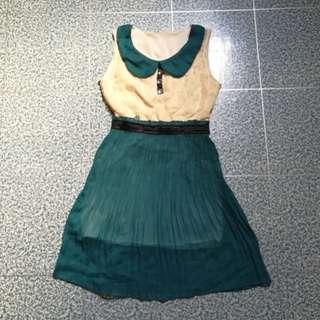 Blue Green Lace Dress