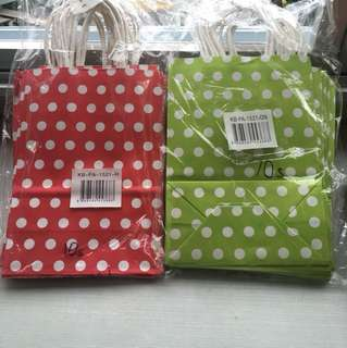 Gift party Bags polka dots