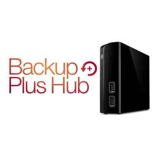 Seagate Backup Plus Hub 8TB External Desktop Hard Drive Storage BRAND NEW SEALED