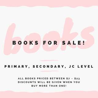 Primary/Secondary/JC Books for Sale!