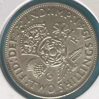 Uk silver coin 2 shilling Year 1941 sale 30%