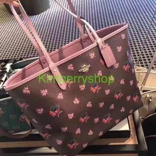 Authentic Coach Shoulder Bag shopping bag