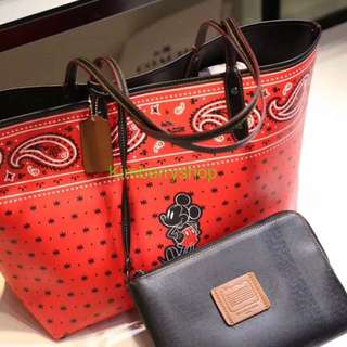 Authentic Coach women Handbag mickey series