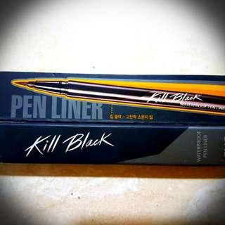 Killer black Korean waterproof eye liner