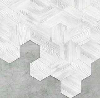 Wood Grain Style Floor Stickers