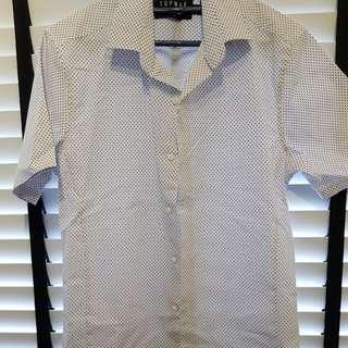 Topman skinny fit short sleeve shirt size S